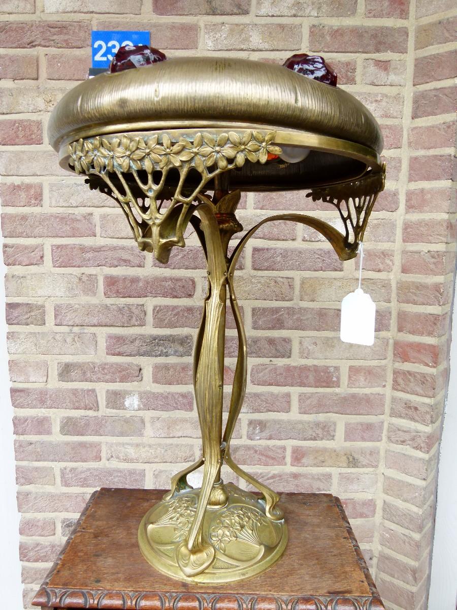 Art Nouveau Table Lamp Art Deco Items By Category European