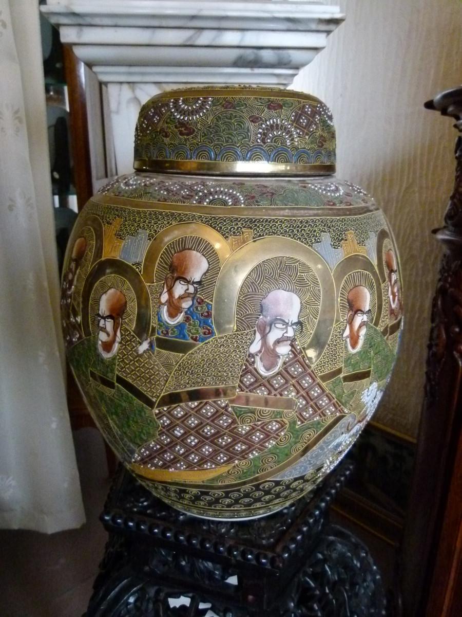Vase japanese satsuma Satsuma Vase